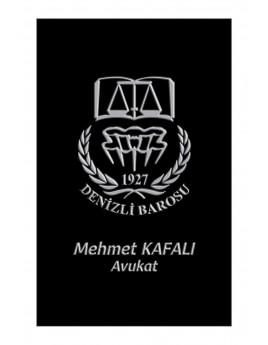 KABARTMA LAKLI KARTVİZİT - Av. Mehmet KAFALI