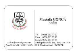 KABARTMA LAKLI KALIN KARTVİZİT - Av. Mustafa GONCA