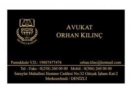 ALTIN YALDIZLI KARTVİZİT - Av. Orhan KILINÇ